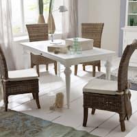 NovaSolo Mahogany 180 Dining Table - White