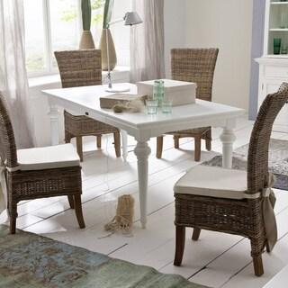 Maison Rouge Eliot White Mahogany Dining Table
