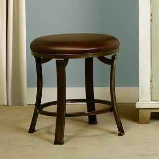 Hillsdale Hastings Brown Backless Vanity Stool