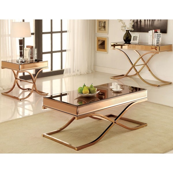 Furniture Of America Orelia Luxury Copper 3-piece Accent