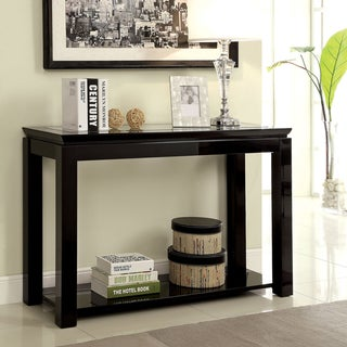 Furniture of America Dia Modern Wood Glossy Rectangle Sofa Table