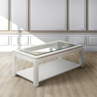 Furniture of America Clarize Contemporary Glossy Coffee Table