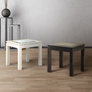 Furniture of America Clarize Contemporary Glossy End Table