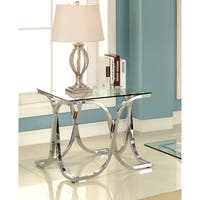 Silver Orchid Brockwell Modern Chrome End Table