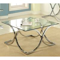 Silver Orchid Brockwell Modern Chrome Coffee Table