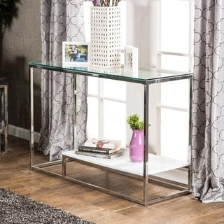 Furniture of America Deitie Modern Chrome Sofa Tab