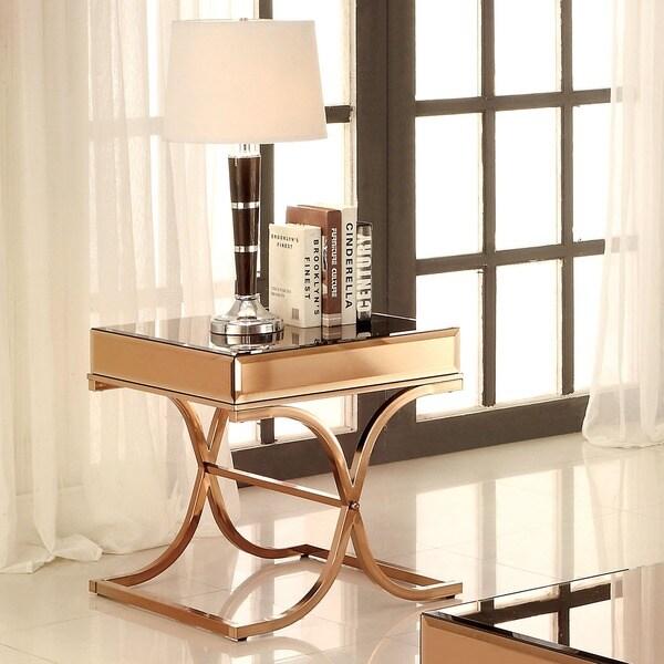 Shop Furniture Of America Orelia Luxury Copper Metal End