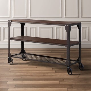 Marvelous Furniture Of America Karina Oak Toned Wood And Metal Industrial Style Sofa  Table