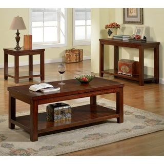 Furniture of America Ambelle Dark Cherry 3-Piece Accent Table Set