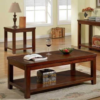 Furniture of America Ambelle Dark Cherry 2-Piece Accent Table Set