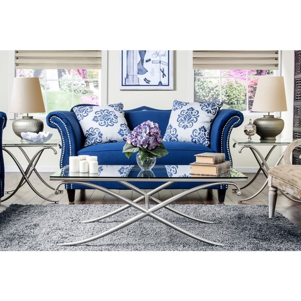 Furniture of America Visconti Contemporary 3-Piece Accent Table Set