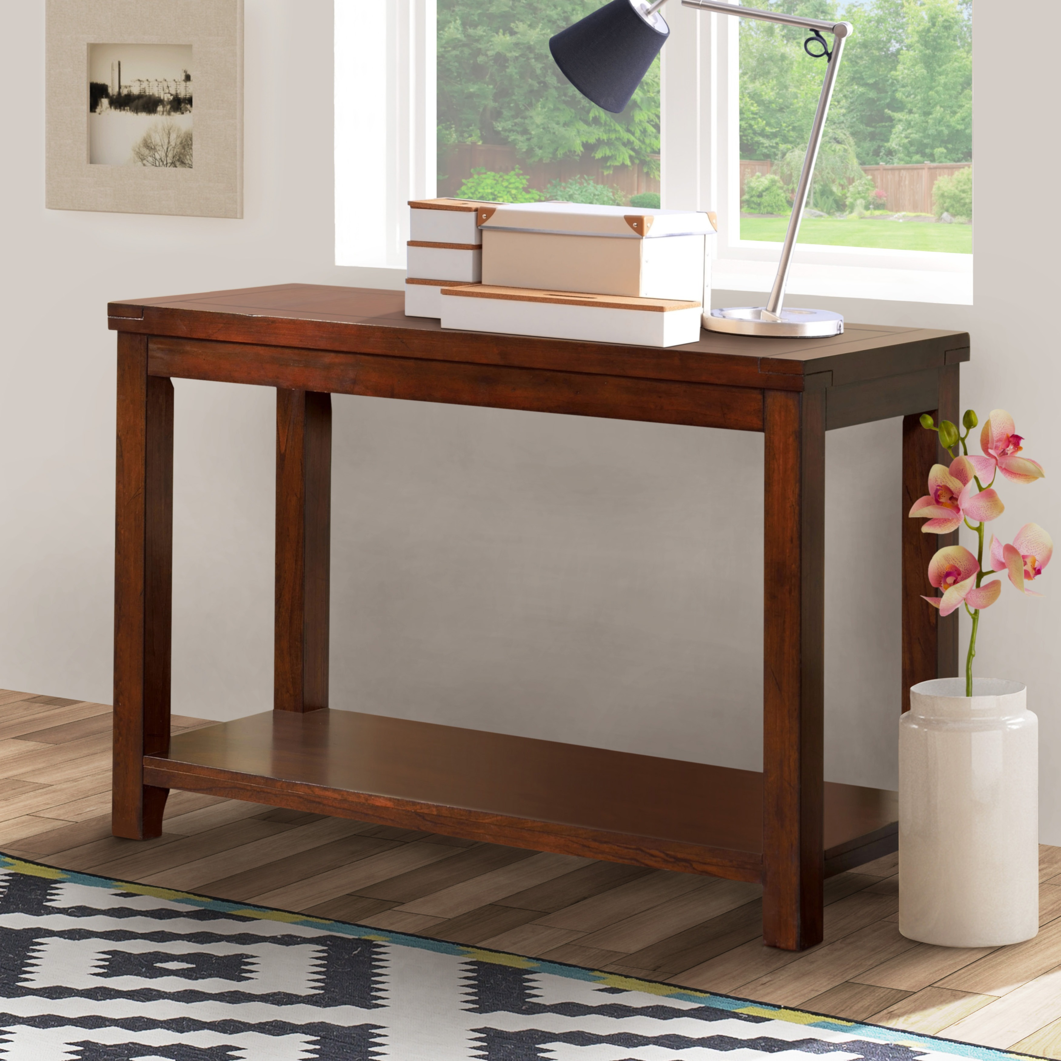 Furniture Of America Ambelle Dark Cherry Sofa Table