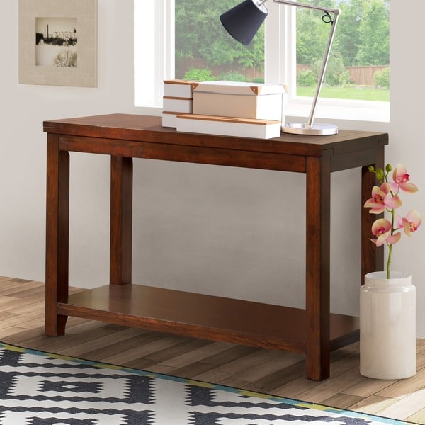 Furniture Of America Ambelle Dark Cherry Sofa Table Free