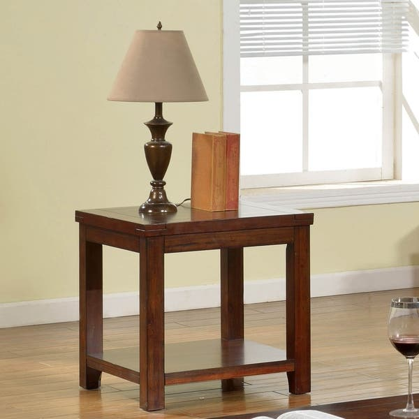 Furniture Of America Llat Transitional Cherry Solid