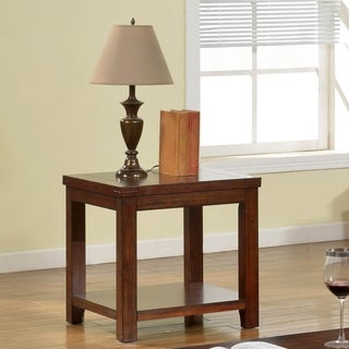 Ambelle Transitional Dark Cherry End Table by FOA