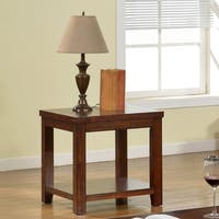 Furniture of America Ambelle Dark Cherry End Table