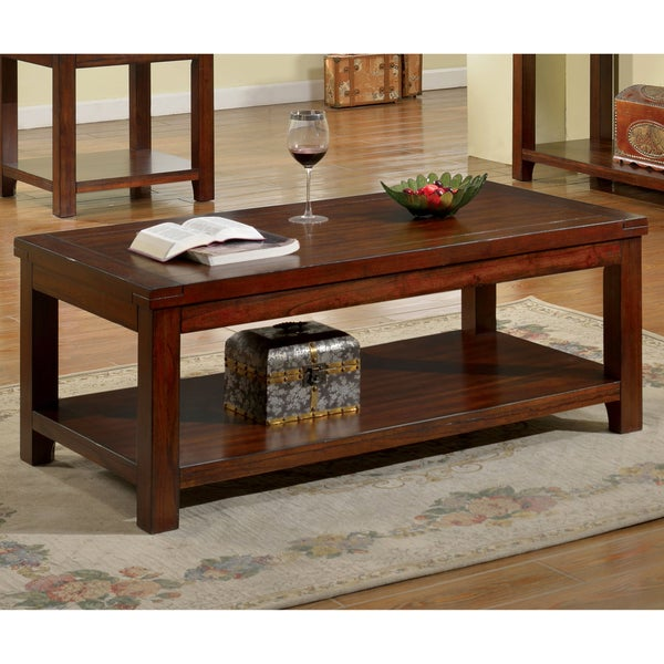 Furniture Of America Ambelle Dark Cherry Coffee Table Free Shipping Today