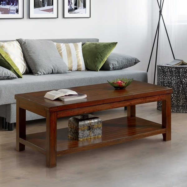 Furniture Of America Ambelle Dark Cherry Coffee Table