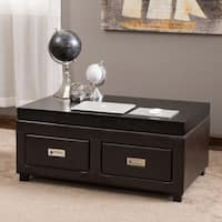Grant Bonded Leather Adjustable Lift Top Table by Christopher Knight Home