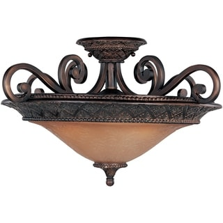 Maxim Symphony Bronze 3-light Iron Semi-flush Mount