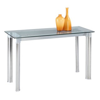 Christopher Knight Home Tamra Glass Top Sofa Table