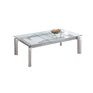 Christopher Knight Home Tamra Glass Top Cocktail Table