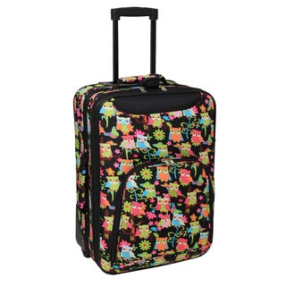 World Traveler Lightweight 20-inch Owl Carry-on Upright Suitcase