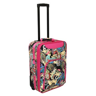 World Traveler Lightweight 20-inch Paisley Carry-on Upright Suitcase