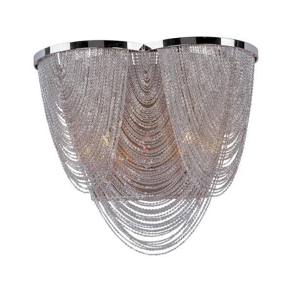 Maxim Chantilly Nickel 2-light Wall Sconce