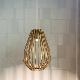 Maxim Saki LED Wood 1-light LED Pendant