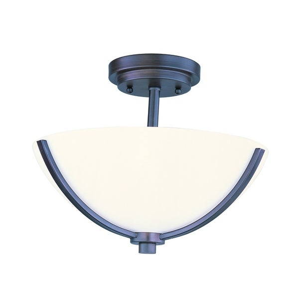 Maxim Deven Bronze 3-light Semi-flush Mount