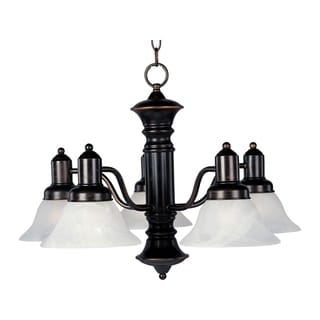 Maxim Newburg Bronze Iron 5-light Chandelier