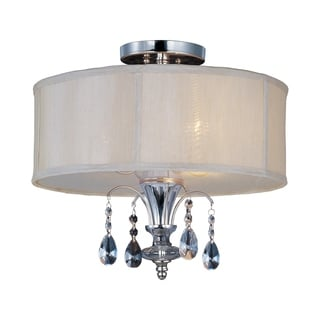 Maxim Montgomery Nickel 3-light Semi-flush Mount