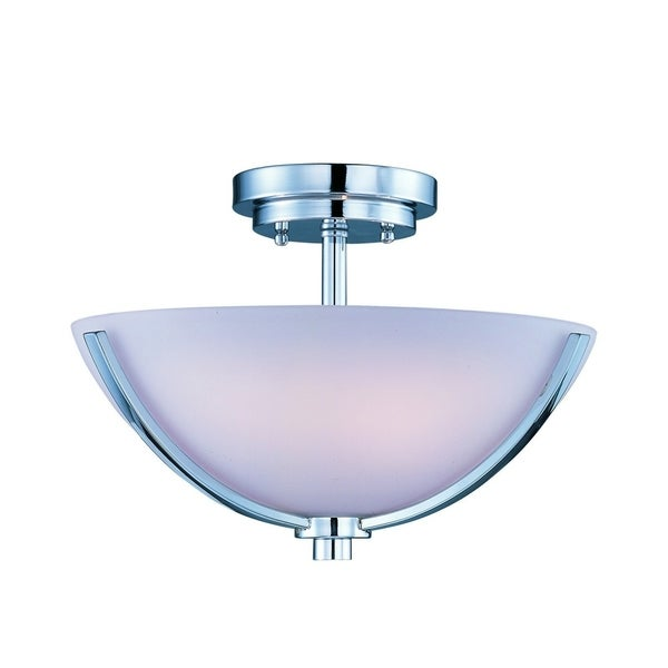 Maxim Rocco Chrome 3-light Semi-flush Mount