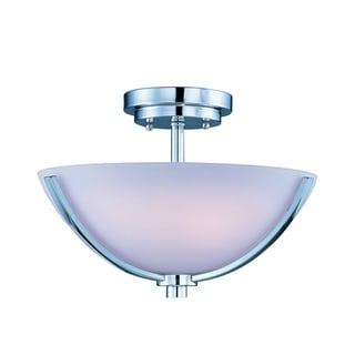 Maxim Rocco Chrome 3-light Semi-flush Mount