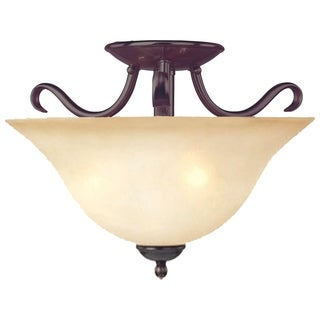 Maxim Basix Bronze Iron 2-light Semi-flush Mount