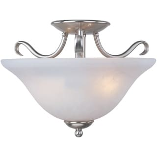 Maxim Basix Nickel Iron 2-light Semi-flush Mount