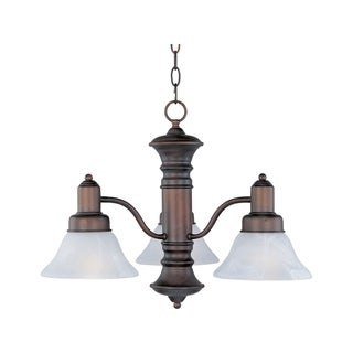 Maxim Newburg Bronze Iron 3-light Chandelier
