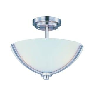 Maxim Deven Nickel 3-light Semi-flush Mount