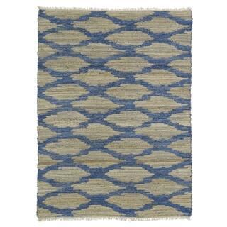 Handmade Natural Fiber Cayon Navy Lattice Rug (8'0 x 11'0) https://ak1.ostkcdn.com/images/products/9914597/P17072371.jpg?impolicy=medium
