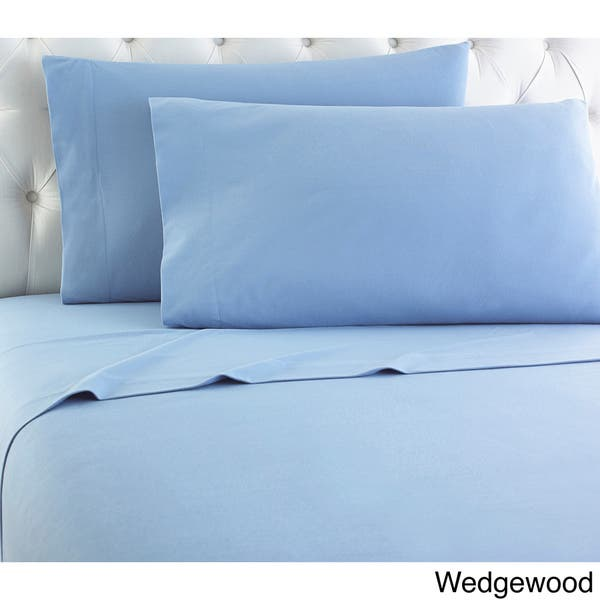 Micro Flannel Bed Sheet Set On Sale Overstock 9914650