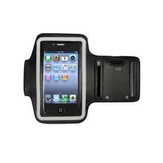 Insten Black Sport Exercise Running Armband Phone Case Cover With Key Pocket For Apple iPhone 3G/ 3GS/ 4/ 4s