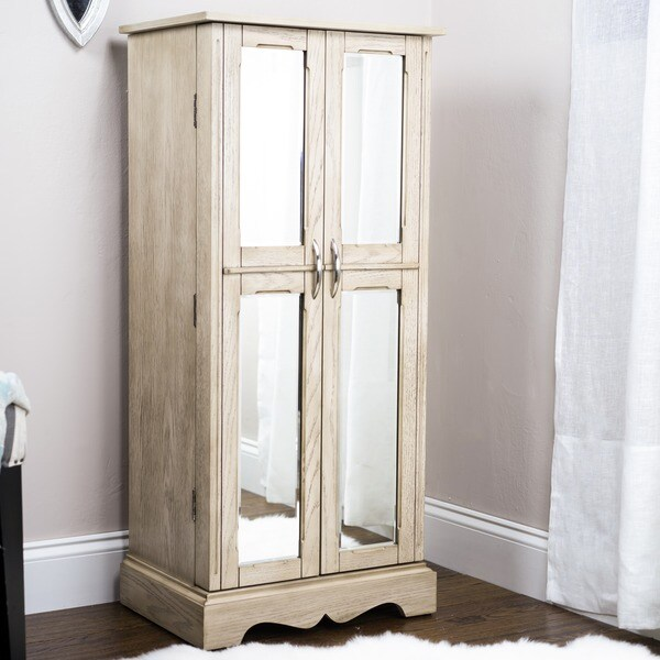 Shop Hives Amp Honey Chelsea Grey Mist Jewelry Armoire