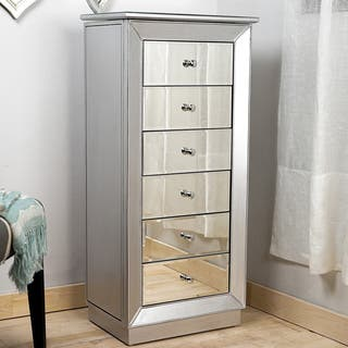 Hives & Honey 'Mia' Silver Leaf and Mirror Jewelry Armoire|https://ak1.ostkcdn.com/images/products/9914776/P17072516.jpg?impolicy=medium