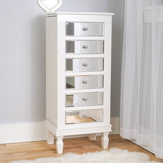 Hives & Honey 'Ava' Classic White Jewelry Armoire