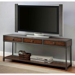 Furniture of America Thorne Antique Oak Industrial 60-inch TV Stand
