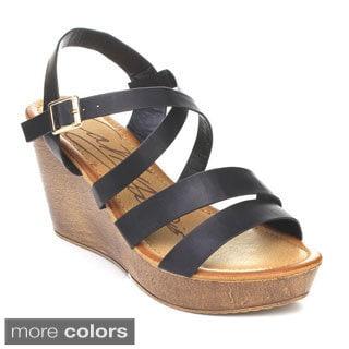 DBDK HAWAIIAN-3 Women's Ankle Strap Wedges