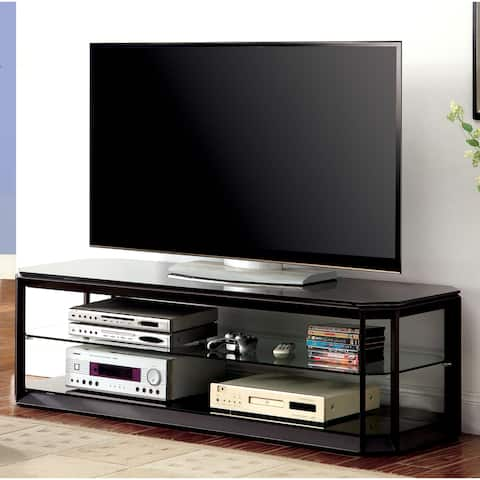 Furniture of America Bilt Modern 60-inch Brown Metal 2-shelf TV Stand