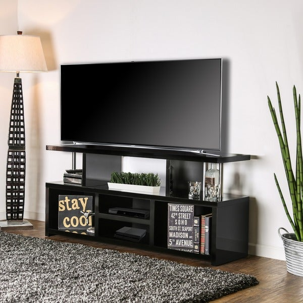 Furniture of America Jae Contemporary 60-inch Solid Wood TV Stand