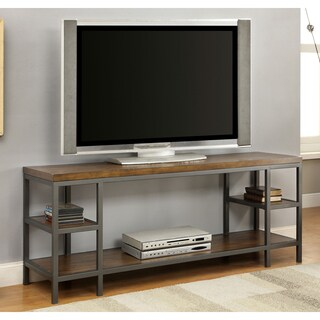 Furniture of America Payton Industrial Tiered 60-inch TV Stand